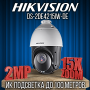 Hikvision DS-2DE4215IW-DE 2.0 MP PTZ IP видеокамера